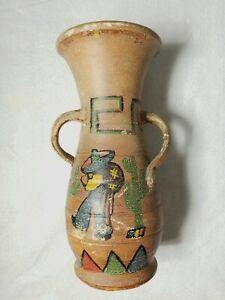 "Vintage Bauer Olvera Street Matt Carlton Hands On Hips Pottery Vase 18"" 1930s"