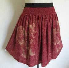 Anthropologie Corey Lynn Calter Fox Skirt S100% Silk Lined Smocked Perfect HTF