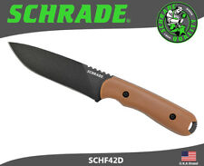 Schrade Fixed Blade Knife Frontier Full Tang 1095 Carbon With Sheath SCHF42D