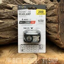 NITE IZE RADIANT 200 4 MODE HEADLAMP HEADTORCH 200 LUMENS RED & CLEAR LIGHT