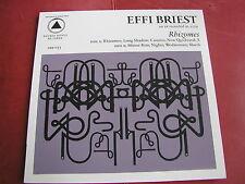 Effi Briest - Rhizomes 2010 Sacred Bones LP Silkscreene Cover New