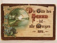 Vintage German Cardboard Wall Hanging Art Good of Gentleman New Every Morning