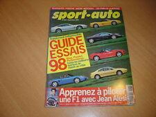 Sport Auto N°428 Guide essais 1998.
