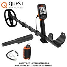 Quest Q20 Metalldetektor (Blade Spule) + Gratis Quest XPointer Schwarz