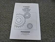 Dynapac LG200 Vibratory Plate Compactor Parts Catalog Manual Book SLG200-2EN3