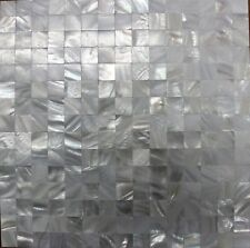 SQUARE Mother of Pearl Seamless Mosaic Back Splash Wall Tile White Tiles Bath