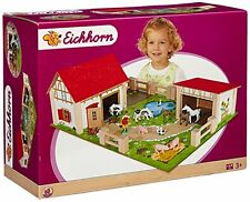 Eichhorn Wooden Toy Farm Set  25-Piece, Multi-Colour