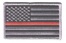 "IRON-ON US flag 3.5"" stars left black/gray orange line  patch rescue LANCE-H-EPJ"
