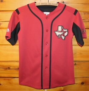 Houston Astros MLB Majestic Sewn Button Front Jersey Youth Size Medium +
