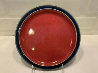 """8 1/2"""" Red/Blue Salad Plate Harlequin by DENBY-LANGLEY - Discontinued style"""