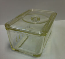"""Glasbake Pyrex Refrigerator Glass Container With Lid 7"""""""
