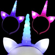 Flashing Unicorn Headbands Light Up Party Favor Gift Bulk Lot (Pack of 25)