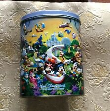 4 Parks One World Wdw / Disneyland Resort Collectible Oval Tin Canister