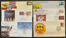 Malaysia 7 Postage Prepaid Commemorative Envelopes Canceled