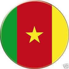 5 x sticker 5cm auto moto velo valise pc portable drapeau Rond Cameroun-Cameroon