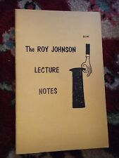 Vintage Roy Johnson Lecture Notes 1970 Booklet