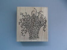 STAMPIN' UP RUBBER STAMPS LARGE BASKET OF FLOWERS NEW STAMP 2007
