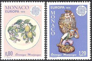 Monaco 1976 Europa/Ceramics/Art/Craft/Figurine/Plate 2v set (n43011)