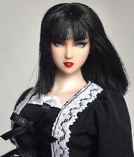 "Obitsu Custom painted, OOAK, I/6 head for Cy Girl, Phicen, Kumik ""Black"""