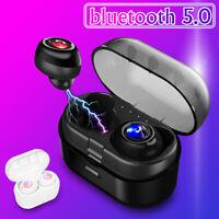 bluetooth 5.0 TWS Mini Ecouteurs Sans Fil Casque HIFI Stéréo Pour iPhone Samsung