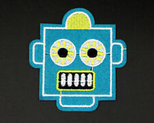 "ROBOT HEAD PATCH, ROBOT FACE APPLIQUE,  3"" x 2.75"" (BR-335)"
