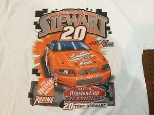 Vintage NASCAR Shirt 2002 Champion Tony Stewart Home Depot Racing New Med  NOS