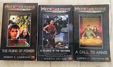 Rare Vintage 2003 MechWarrior's Dark Age Battletech Novels Bundle Books