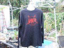 slayer old school red pentagram xl long sleeve t shirt  666 thrash