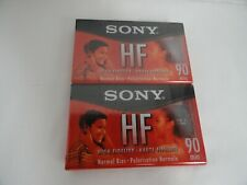 2 Pack Sony High Fidelity HF 90 Minute Audio Recording Blank Cassette Tapes