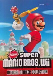 Super Mario Bros Wii Sticker Collection EnterPlay 2011 Nintendo Official SINGLES