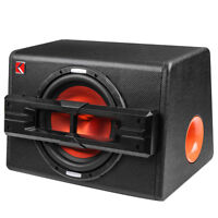 10'' 1200W Pro Car Active Boxed Subwoofer BASS HiFi Powered Amplifier Amp Sub V