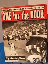 BASEBALL'S ONE FOR THE BOOK THE SPORTING NEWS ALL TIME BASEBALL RECORDS 1967