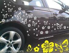 62 piezas, kit de mariposas Hibiscus cartattoo tuning auto pegatinas set c32c