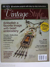 Beadshine Vintage Style Jewelry Magazine Bead and Button Spring 2008 Metal Clay
