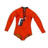 Billabong BNWT Girls Youth / Kids Size 10 Orange Long Sleeve Wetsuit