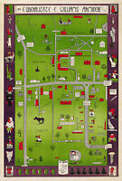 Historical Map Williams College Humorous Wall Art Poster Vintage Massachusetts