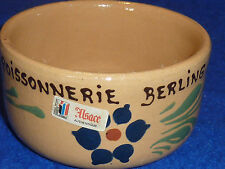 CAQUELON poissonnerie BERLING vintage Ancien POT TERRINE alsace fish shop FISCH