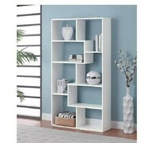 Free Standing Shelves Room Divider Bookcase Shelving Unit Storage Modern Design