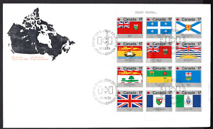 Canada  #  832a  OVERSIZE  PROVINCIAL FLAGS    Brand New 1979 Unaddressed Cover