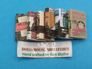 1:12 Scale Book , 6 x Mary Allingham Novels, Crafted by Ken Blythe