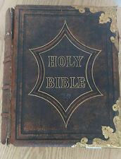 Vintage Old Family Holy Bible Numerous and Illustrations 1877 by Rev.John Brown