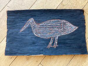 Antique Aboriginal Art Work On Bark