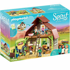 Playmobil Barn with Lucky, Pru & Abigail - Spirit Riding Free 70118