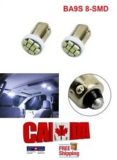 2pcs 8SMD White 6000k LED T11 12V BA9S 1206 Map Dome License Plate Light Bulb