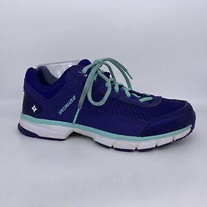 Specialized Cadette Cycling Bike Sneaker Shoe Purple Indigo Teal Women Size 9.5