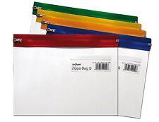 Snopake A5 Clear Plastic Zip Zippi Zippa Bag Transparent Resealable - Pack 5