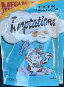 2 Whiskas Temptations Cat Treats Tempting Tuna Mega Pack 6.3oz Bags