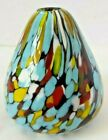 Confetti Glass Vase Paperweight Hand Blown Pearlessence Office Decor
