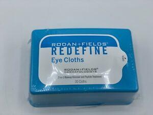 NEW Rodan + Fields REDEFINE Discontinued Eye Cloths Fresh 30 Cloths Sealed