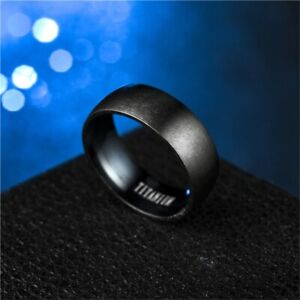 ZORCVENS Fashion Men's Black Titanium Ring Matte Finished - Free shipping